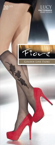 Fiore Feinkniestruempfe mit dezentem, floralem Muster Lucy 20 DEN