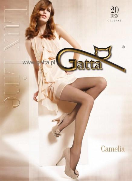 Gatta Seidig glaenzende Feinstrumpfhose Camelia 20 DEN