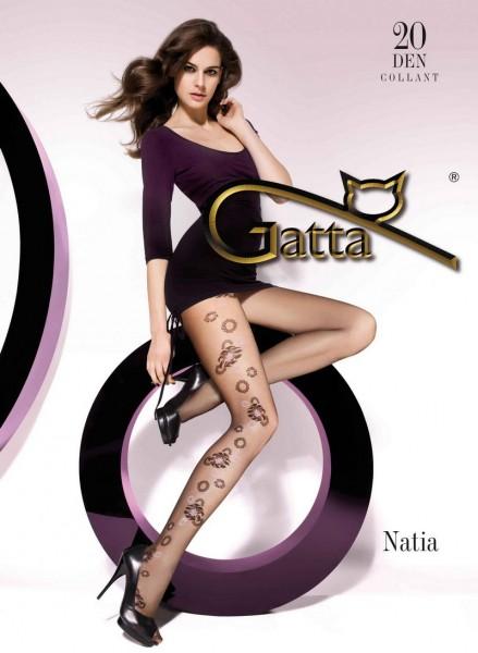 Gatta Strumpfhosen mit einem Muster Natia 20 DEN
