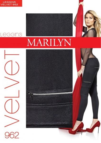 Marilyn Samtig weiche Treggings Velvet 120 DEN