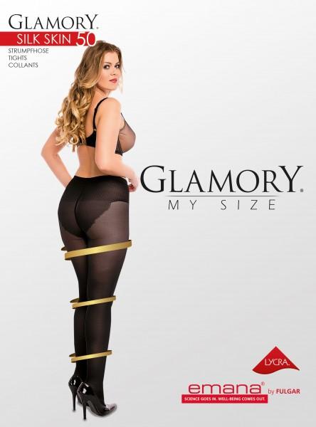 Glamory Silk Skin 50 - Feinstrumpfhose mit figurformendem Höschenteil