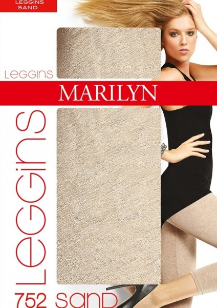 Marilyn Naturfarbene Leggings in 7/8-Laenge Sand