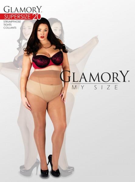 Glamory Supersize 20 - Glänzende sehr große Feinstrumpfhose