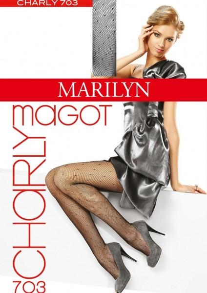 Marilyn NetzStrumpfhose mit modischem Tupfenmuster Charly Magot, 30 DEN