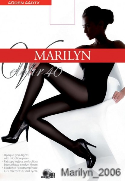 Marilyn Blickdichte glatte Strumpfhose Velour 40