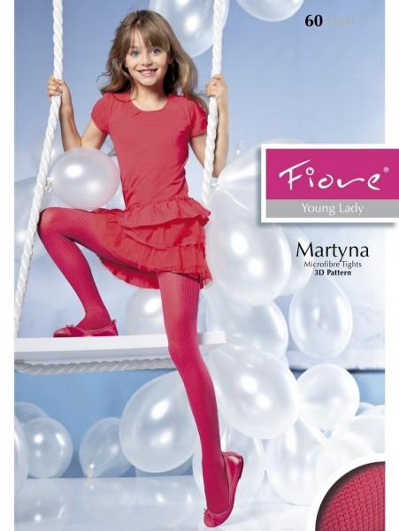 Fiore Kinderstrumpfhosen mit durchgehendem 3D-Muster Martyna 60 DEN
