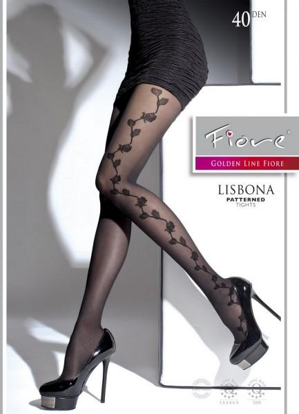 Fiore Damenstrumpfhose mit elegantem floralem Muster Lisbona