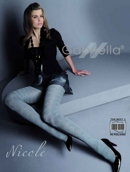 Gabriella Elegante Strumpfhose Nicole mit Rauten-Muster