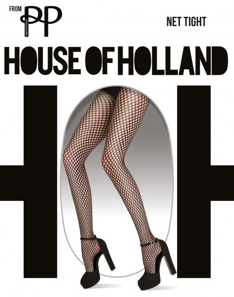 House of Holland for Pretty Polly Net Tight - Weiche Netzstrumpfhose