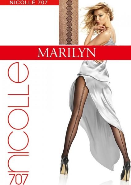 Marilyn Feinstrumpfhosen mit auf der Rueckseite verlaufendem Streifenmuster Nicolle, 20 DEN