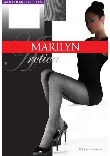 Marilyn Blickdichte weiche Strumpfhose mit hohem Baumwollanteil Arctica 80 DEN