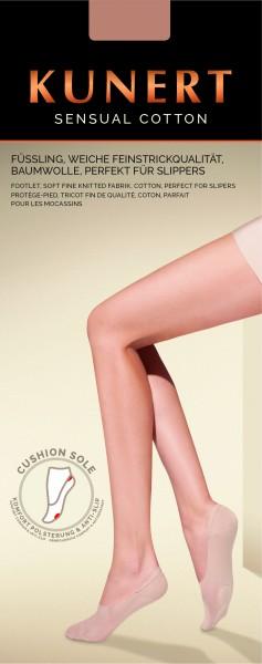 Kunert Sensual Cotton - Blickdichte weiche Füßlinge mit Baumwolle