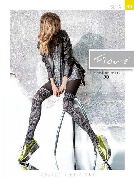 Fiore Setia - Modische Strumpfhose in raffiniertem Overknee-Look