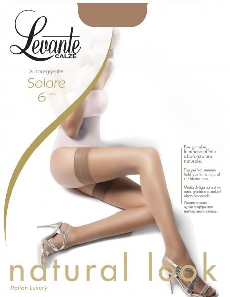 Levante Solare Ultradünne halterlose Strümpfe mit schlichtem Abchluss, 6 DEN