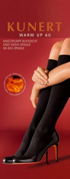 Kunert Blickdichte waermende Kniestruempfe ohne Muster Warm Up 60