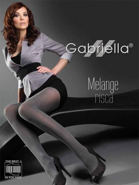 Gabriella Melierte Strumpfhose Risca Melange mit Streifenmuster, 60 DEN
