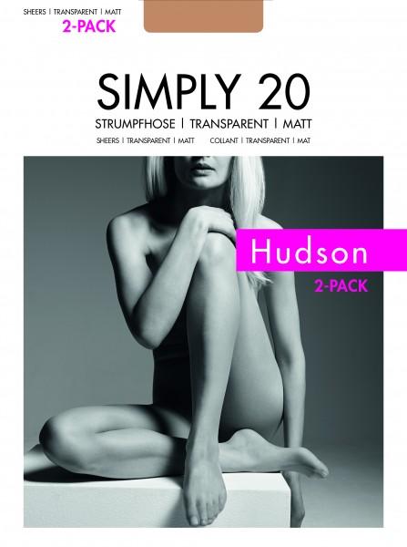 Hudson Klassische Feinstrumpfhose Simply 20 - 2-pack!