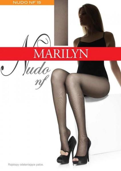 Marilyn Feinstrumpfhose mit offener Spitze Nudo, 15 DEN