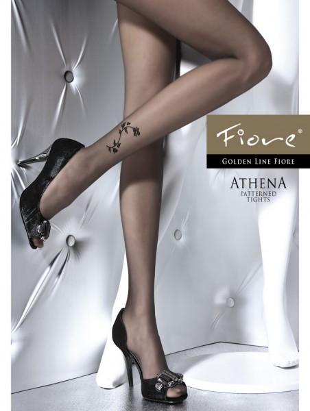 Fiore Feinstrumpfhose mit dezentem Blumenmuster Athena 20 den