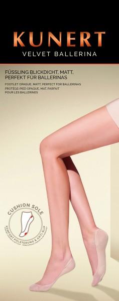Kunert Velvet Ballerina - Blickdichte matte Füßlinge ohne Elasthan