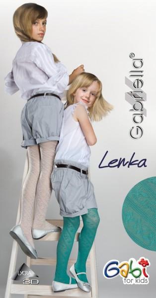 Gabriella Elegante Strumpfhose mit blumigem Muster fuer Maedchen Lenka