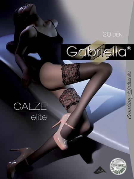 Gabriella Halterlose Strümpfe mit extra breitem Zierband Elite, 15 DEN
