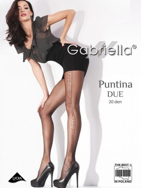 Gabriella Feinstrumpfhose mit Tupfenmuster Puntina Due 20 DEN