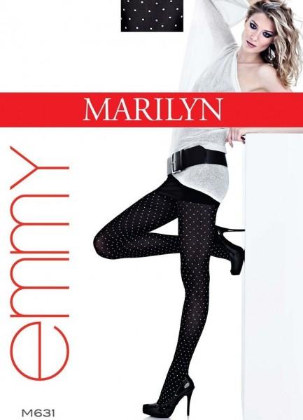 Marilyn Elegante Feinstrumpfhosen mit verspieltem Tupfenmuster Emmy, 40 DEN