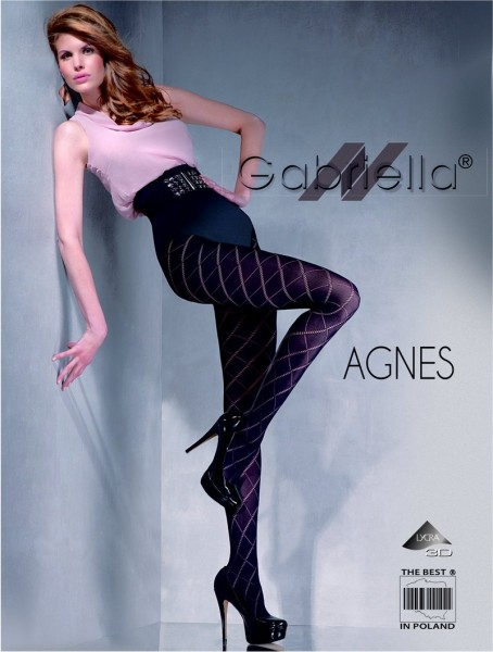 Gabriella Elegante Strumpfhose mit Rautenmuster Agnes, 60 DEN