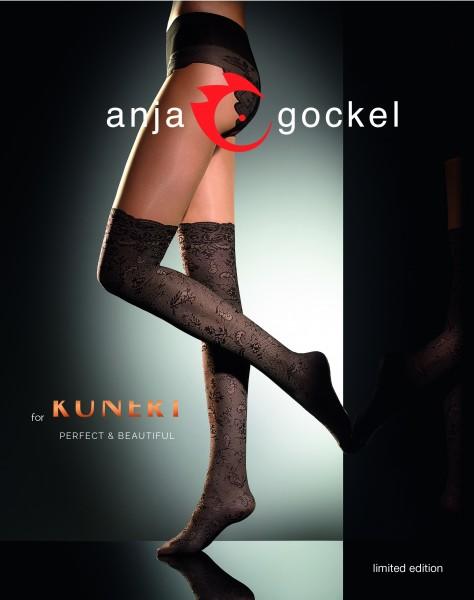 Anja Gockel für KUNERT - Designer-Strumpfhose mit Overknee-Optik