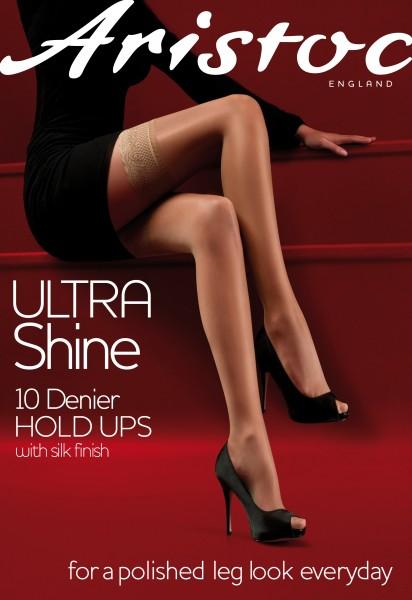 Glänzende halterlose Strümpfe mit Spitzenabschluss Ultra Shine von Aristoc