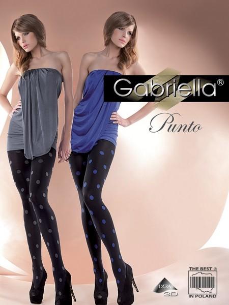 Gabriella Trendige Strumpfhose in modischem Tupfen-Design Punto