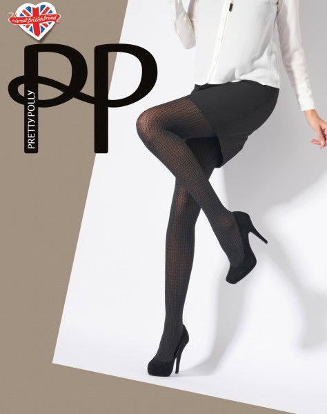 Pretty Polly Dogtooth - Blickdichte Strumpfhose mit Hahnentrittmuster