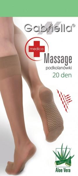 Gabriella Bequeme Kniestruempfe mit Massage-Effekt, 20 DEN
