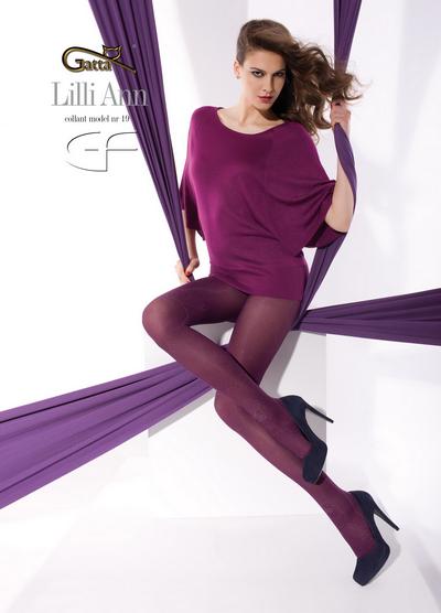 Gatta Elegante Strumpfhosen mit dezentem Muster Lilli Ann 19, 40 DEN
