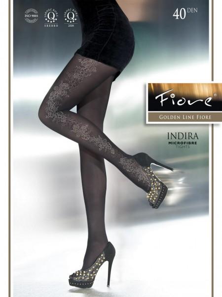 Fiore Elegante Strumpfhose mit blumigem Muster Indira 40 DEN
