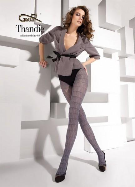 Gatta Elegante Strumpfhose mit durchgehendem Muster Thandie 08, 40 DEN