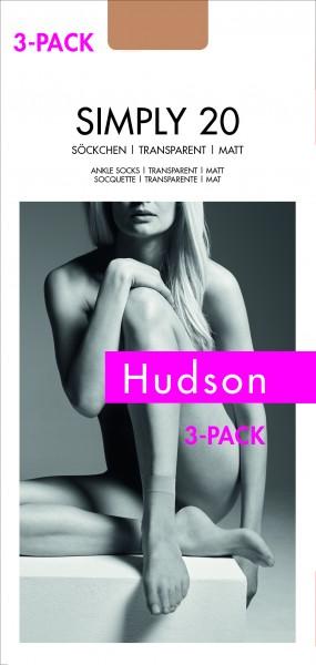Hudson Simply 20 - Transparente, matte Feinsöckchen - 3-pack!