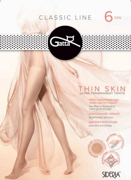 Gatta Thin Skin 6 DEN - Hauchdünne und ultraleichte Feinstrumpfhose mit Make-up-Effekt