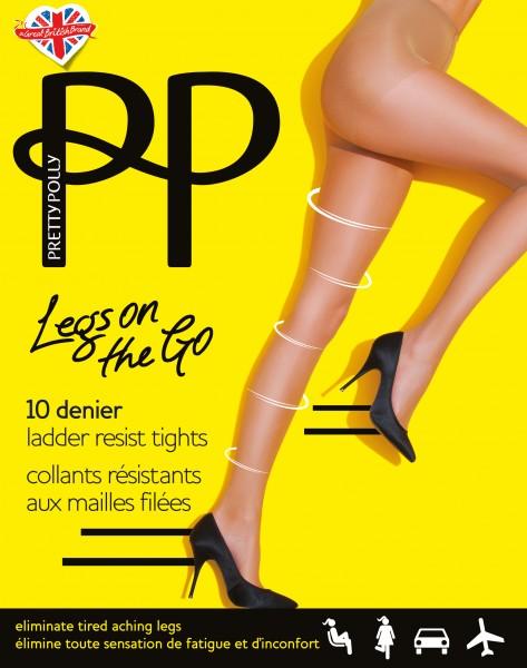 Pretty Polly Legs on the Go - Feinstrumpfhose mit leichter Stützwirkung, resistent gegen Laufmaschen