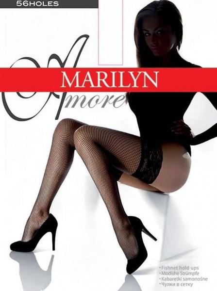 Marilyn Klassische halterlose Netzstruempfe Amore