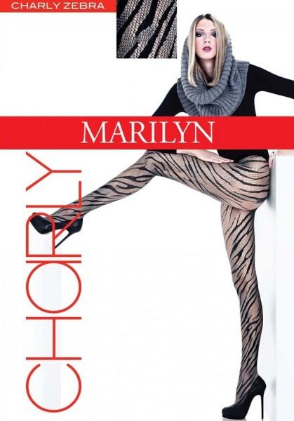 Marilyn Tolle Netzstrumpfhose mit Zebramuster Charly Zebra 40 DEN