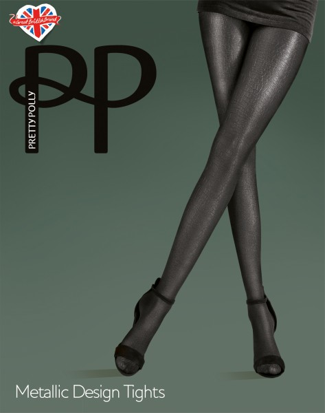 Pretty Polly Metallic Design Tights - Glänzende Strumpfhose mit Wildtier-Design