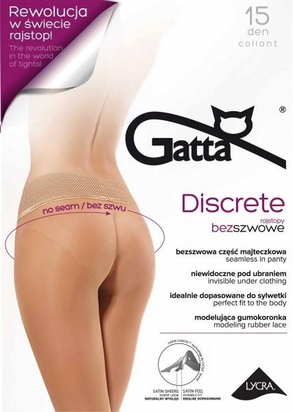 Gatta Discrete 15 - Nahtlose Feinstrumpfhose mit dekorativem Spitzenbund