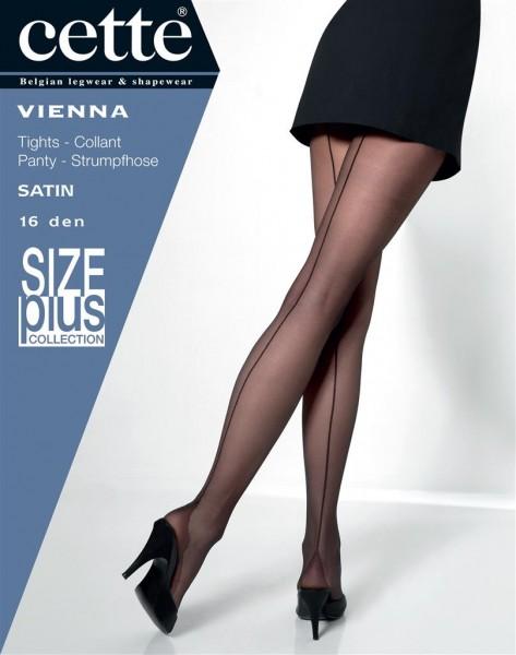 Cette Size Plus Vienna - Feinstrumpfhose mit rückseitiger Naht und Hochferse