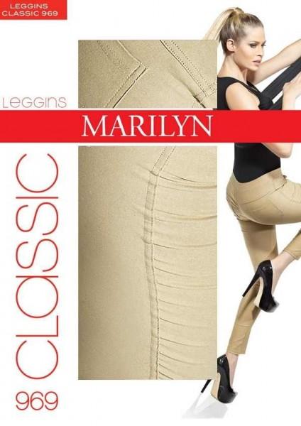 Marilyn Elegante Baumwoll-Treggings Classic, 100 DEN