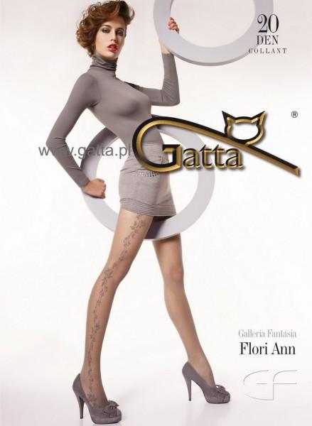 Gatta Feinstrumpfhose mit dezentem Blumenmuster Flori Ann 03, 20 DEN