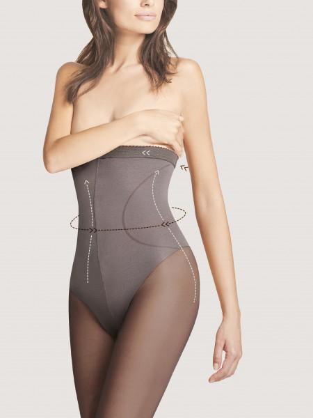 Fiore High Waist Bikini 40 - Semi-blickdichte Feinstrumpfhose mit hohem, figurformendem Taillenbund