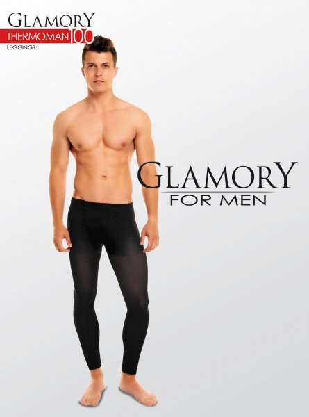 Glamory Thermoman 100 - Blickdichte Herrenleggings in Übergrößen