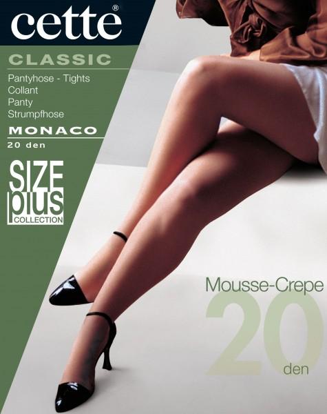 Cette Monaco - Klassische glatte Feinstrumpfhose ohne Elastan in Übergrößen